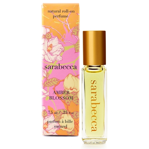 Picture of Sarabecca Sarabecca Natural Perfume Roll-On, Amber Blossom 7.5ml