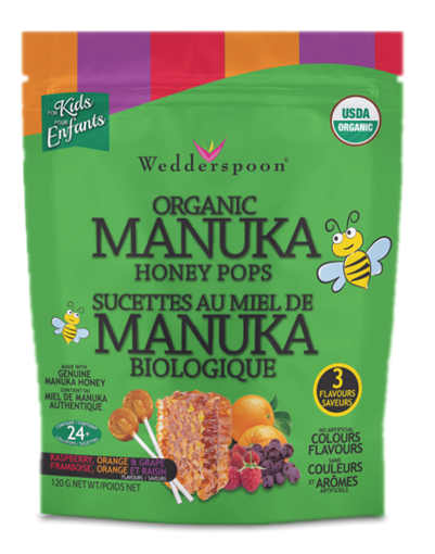 Picture of Wedderspoon Wedderspoon Organic Manuka Honey Pops Variety Pack, 120g