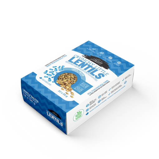 Picture of Three Farmers Crunchy Little Lentils, Lightly Salted 12x50g