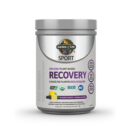 Picture of Garden of Life SPORT Organic Plant-Based Recovery Blackberry-Lemonade, 446g