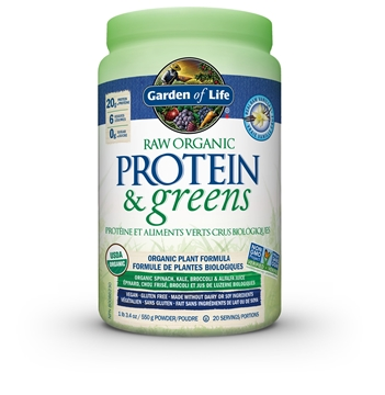 Picture of  Raw Organic Protein & Greens Vanilla, 550g