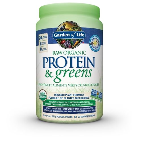 Picture of Garden of Life Raw Organic Protein & Greens Vanilla, 550g