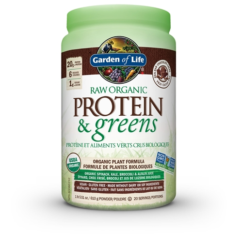 Picture of Garden of Life Raw Organic Protein & Greens Chocolate, 611g