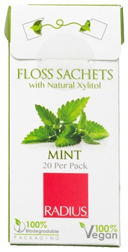 Picture of  Radius Vegan Xylitol Floss, Mint 20 Sachets