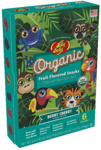 Picture of Jelly Belly Organic Jelly Belly Organic Fruit Snacks, Berry Cherry 6x22g