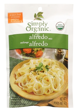 Picture of  Simply Organic Alfredo Seasoning Mix, 42g