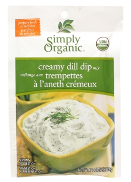 Picture of  Simply Organic Creamy Dill Dip Mix, 24g