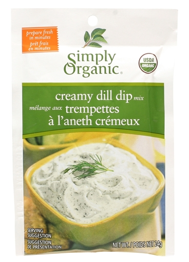 Picture of Simply Organic Simply Organic Creamy Dill Dip Mix, 24g
