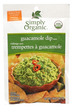 Picture of  Simply Organic Guacamole Dip Mix, 22g
