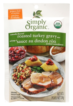 Picture of  Simply Organic Roasted Turkey Gravy Seasoning Mix, 24g