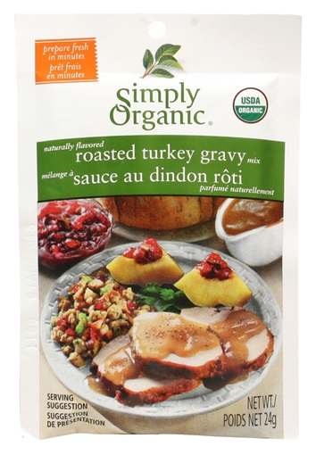 Picture of Simply Organic Simply Organic Roasted Turkey Gravy Seasoning Mix, 24g