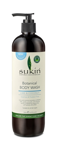 Picture of Sukin Sukin Botanical Body Wash Lime & Coconut, 500ml