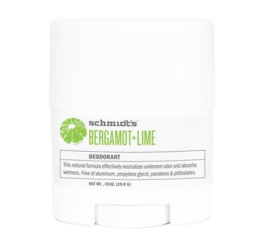 Picture of Schmidt's Naturals Schmidt's Naturals Bergamot + Lime Deodorant Stick, Travel Size 19.8g