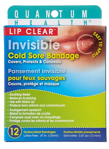 Picture of Quantum Lip Clear Cold Sore Bandage, 12 Bandages