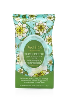 Picture of  Pacifica Super Detox Deep Purification Wipes, 30 Count