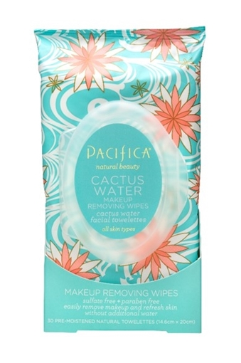 Picture of Pacifica Pacifica Cactus Water Makeup Removing Wipes, 30 Count