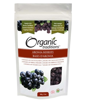 Picture of Organic Traditions Organic Traditions Aronia Berries, Dried 100g