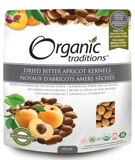Picture of Organic Traditions Organic Bitter Apricot Kernels, 227g