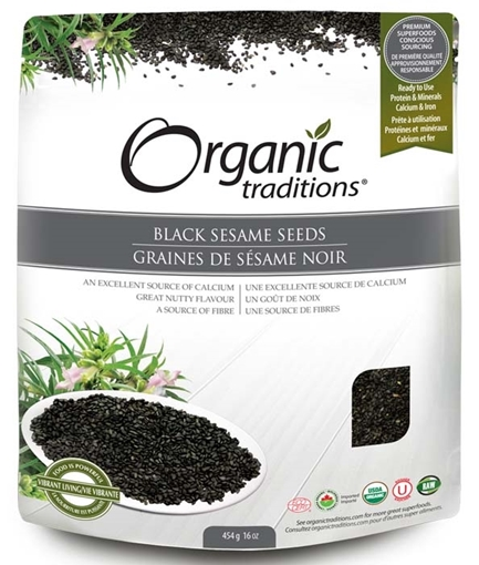 Picture of Organic Traditions Black Sesame Seeds, 454g