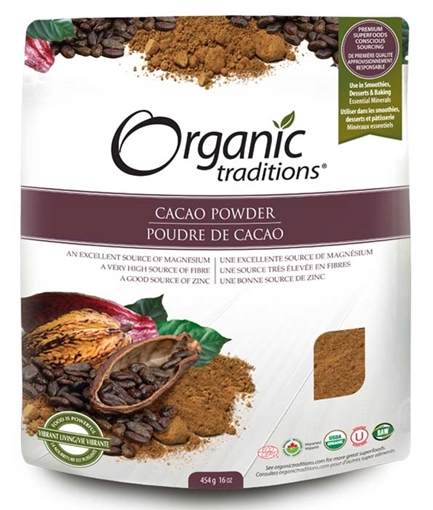 Picture of Organic Traditions Organic Traditions Cacao Powder, 454g
