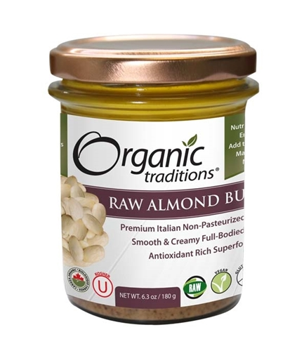 Picture of Organic Traditions Raw Almond Butter, 180g