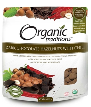 Picture of  Organic Dark Chocolate Covered Hazelnuts with Chili, 227g