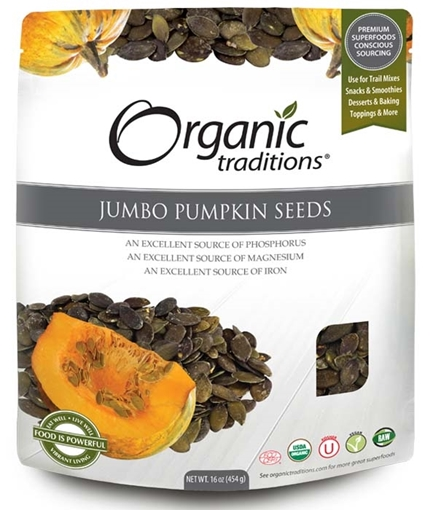 Picture of Organic Traditions Jumbo Pumpkin Seeds,  454g