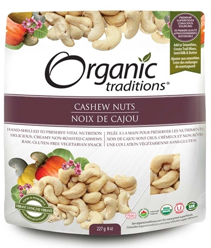 Picture of Organic Traditions Organic Traditions Raw Cashew Nuts, 227g