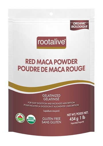 Picture of Rootalive Inc. Organic Gelatinized Red Maca Powder, 454g