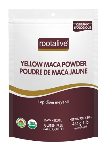 Picture of Rootalive Inc. Organic Yellow Maca Powder, 454g