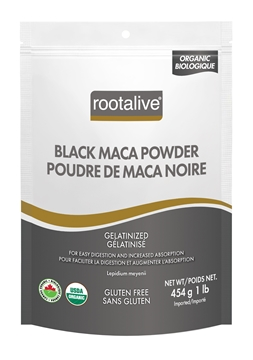 Picture of Rootalive Inc. Organic Gelatinized Black Maca Powder, 454g