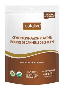 Picture of Rootalive Inc. Organic Ceylon Cinnamon Powder, 454g