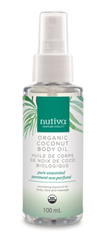 Picture of Nutiva Coconut Body Oil, Pure Unscented, 100ml