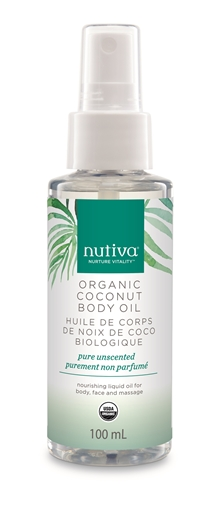 Picture of Nutiva Coconut Body Oil, Pure Unscented, 100ml
