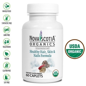 Picture of Nova Scotia Organics Healthy Hair, Skin  Nails, 60 Caplets
