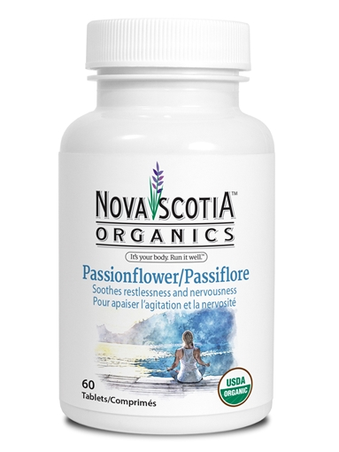 Picture of Nova Scotia Organics Passionflower, 60 Tablets