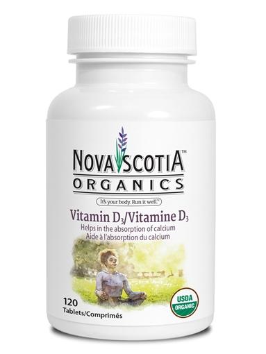 Picture of Nova Scotia Organics Vitamin D3, 120 tabs