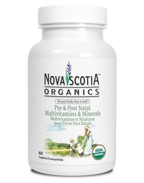 Picture of Nova Scotia Organics Pre & Post Natal Multivitamins & Minerals, 60 Caplets