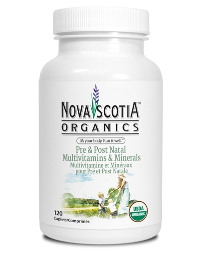 Picture of Nova Scotia Organics Pre & Post Natal Multivitamins & Minerals, 120 Caplets