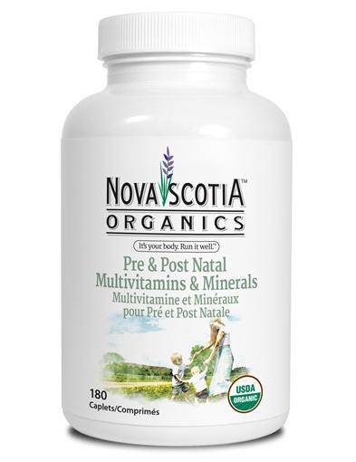 Picture of Nova Scotia Organics Nova Scotia Organics Pre & Post Natal Multivitamins & Minerals, 180 Caplets