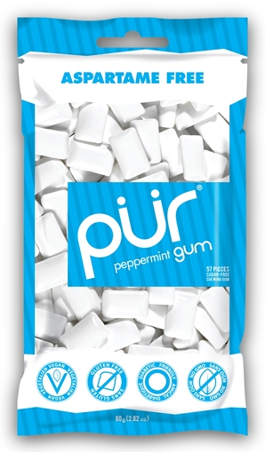 Picture of PUR Gum Peppermint Gum, 55 pieces