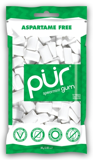 Picture of PUR Gum Spearmint Gum, 12x55 Pieces