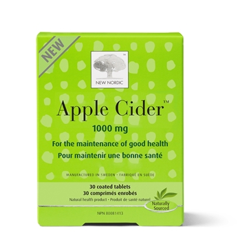 Picture of New Nordic Apple Cider 1000 mg, 30 Tablets