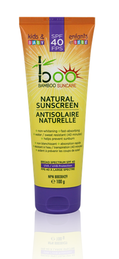 Picture of Boo Bamboo Boo Bamboo Natural Kids & Baby Sunscreen SPF40, 100ml