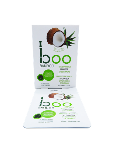 Picture of Boo Bamboo Boo Bamboo Hydrating Sheet Mask, 3 Pack Set (25ml Each)