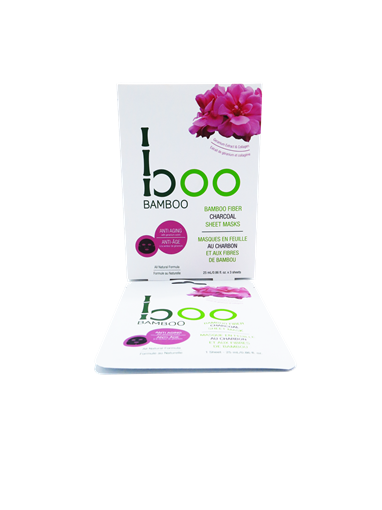 Picture of Boo Bamboo Boo Bamboo Anti-Aging Sheet Mask, 3 Pack Set (25ml each)