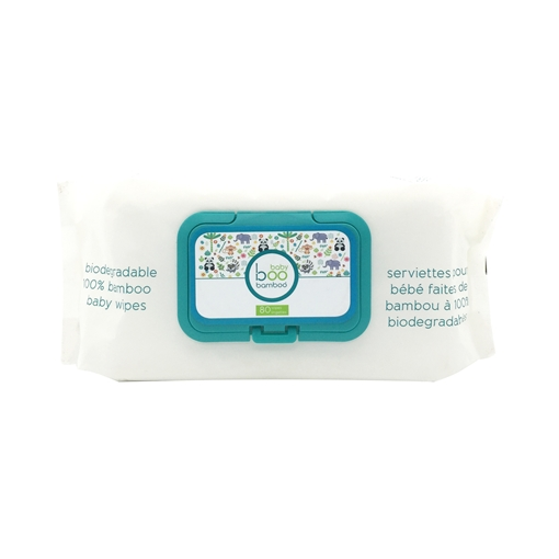 Picture of Boo Bamboo Boo Bamboo Baby Biodegradable, 80 Wipes