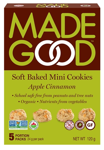 Picture of Made Good Apple Cinnamon - Mini Cookies, Case of 6x120g