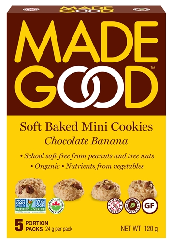 Picture of Made Good Chocolate Banana - Mini Cookies, 6 Boxes, 120g