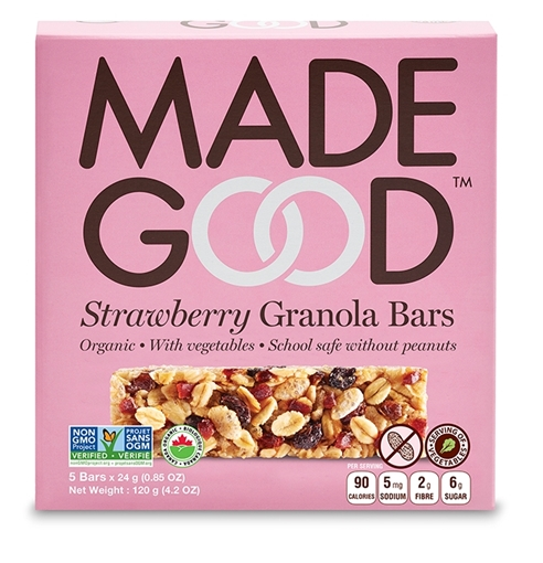Picture of Made Good Strawberry Granola Bars, 6 Boxes, 5x24g